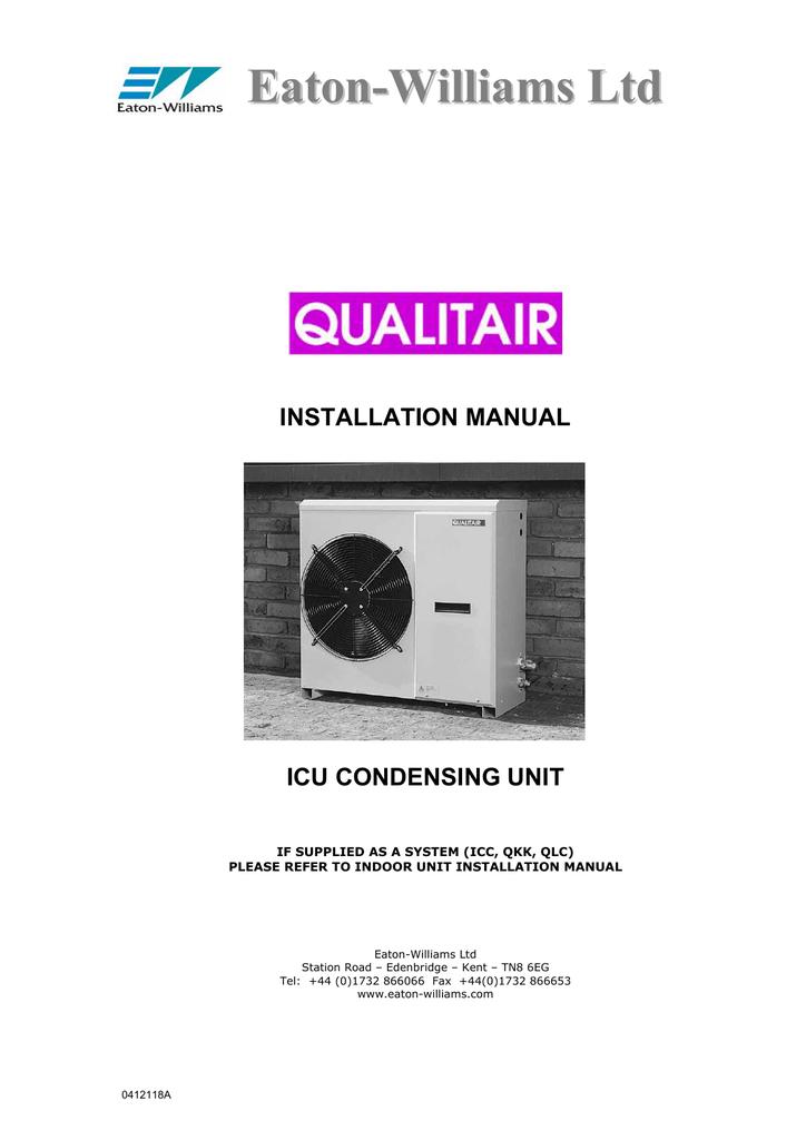 Eaton-Williams ICU30 Installation manual | manualzz.com