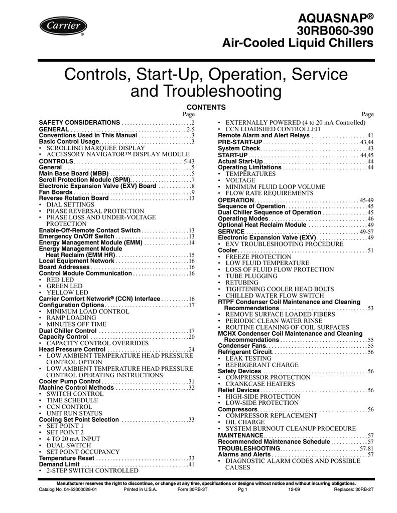 Carrier chiller Repair Manual