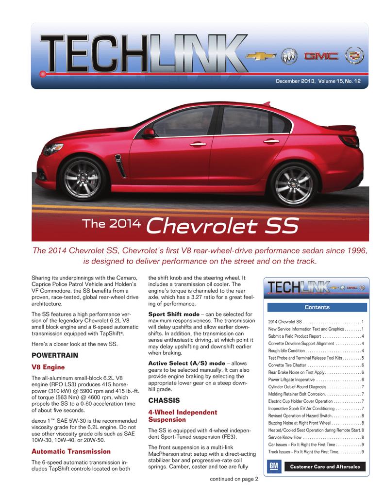 Chevrolet SS 2014 Programming instructions | manualzz com