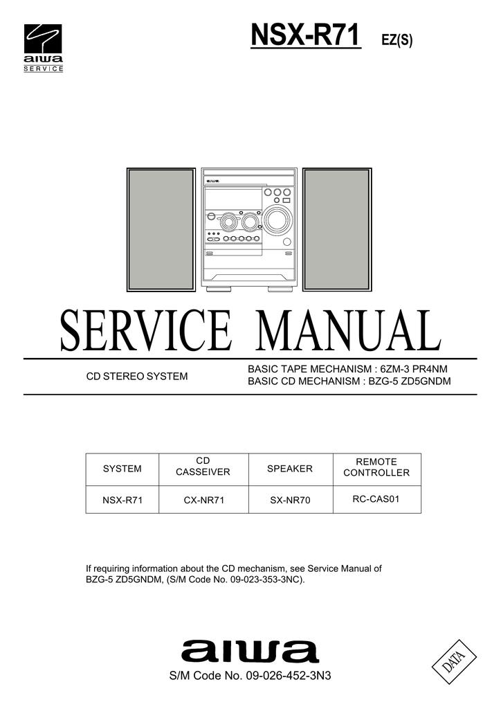 aiwa nsx s303 service manual manualzz com rh manualzz com acura nsx repair manual Parts Manual