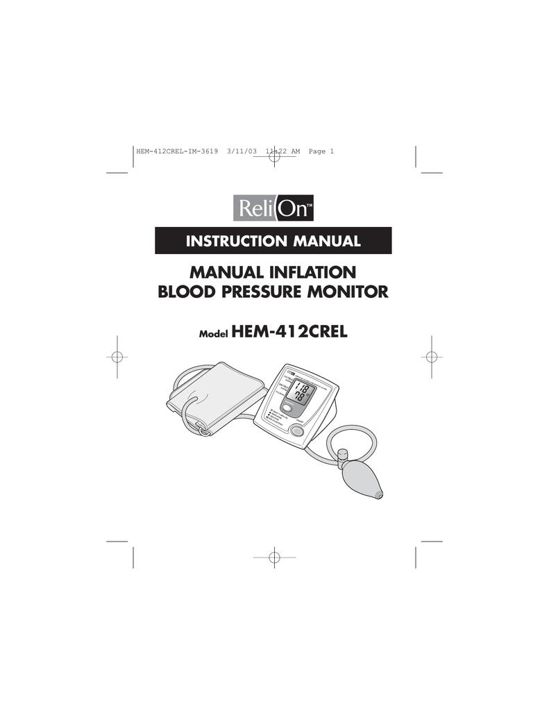 Relion Hem 412crel Instruction Manual Manualzz