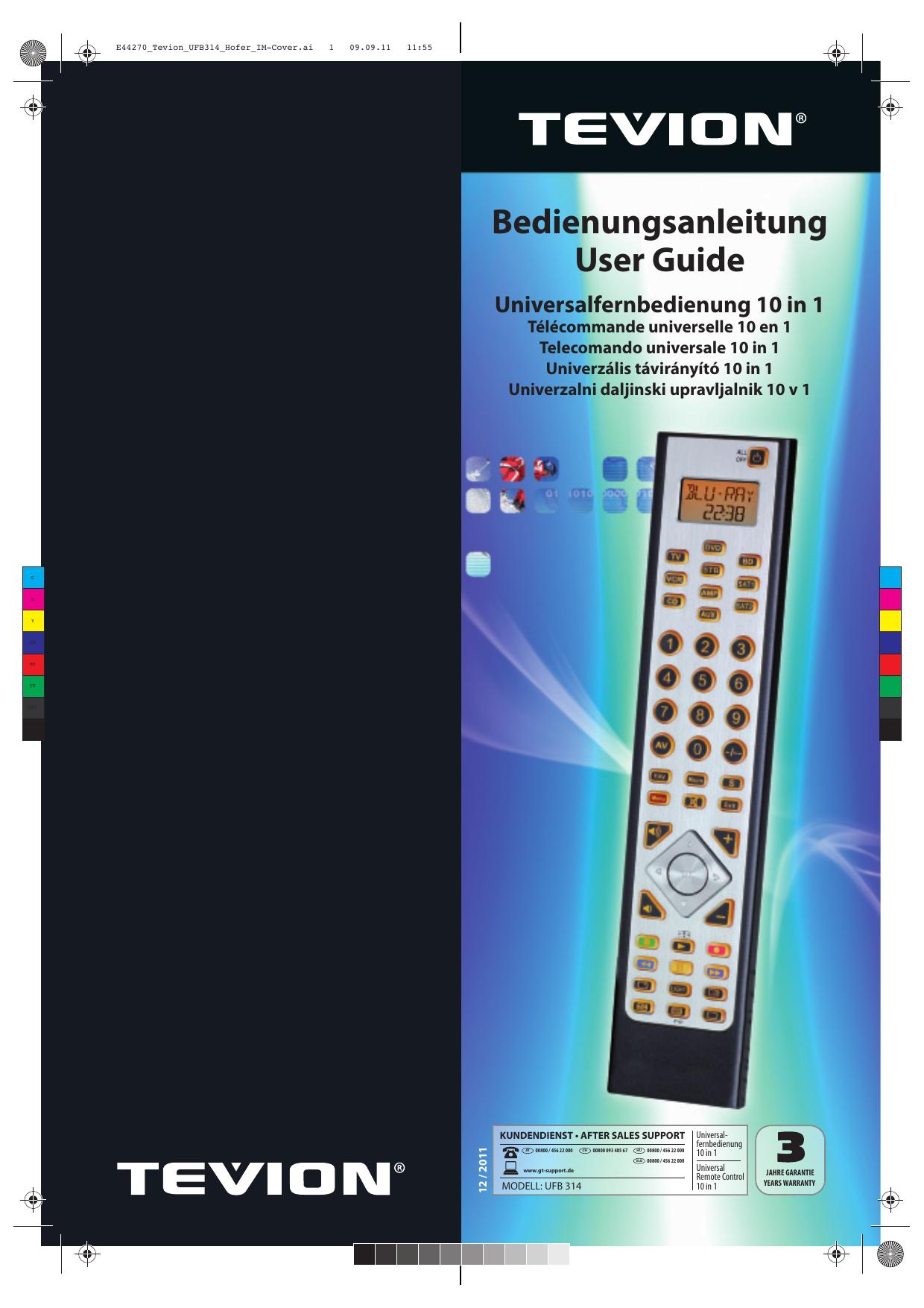 Universalfernbedienung 10 in 1 | manualzz.com