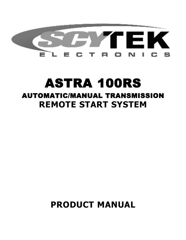 Scytek Electronic 100rs Product Manual Manualzz