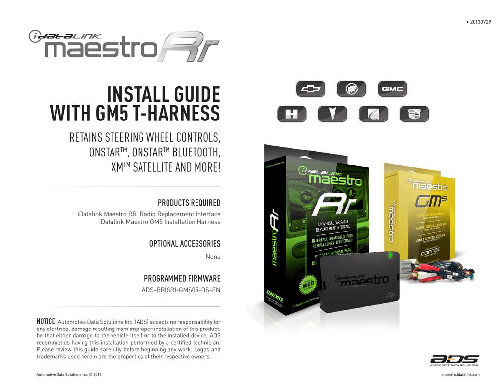 ADS iDataLink Maestro Rr Kenwood Install guide | manualzz.com on