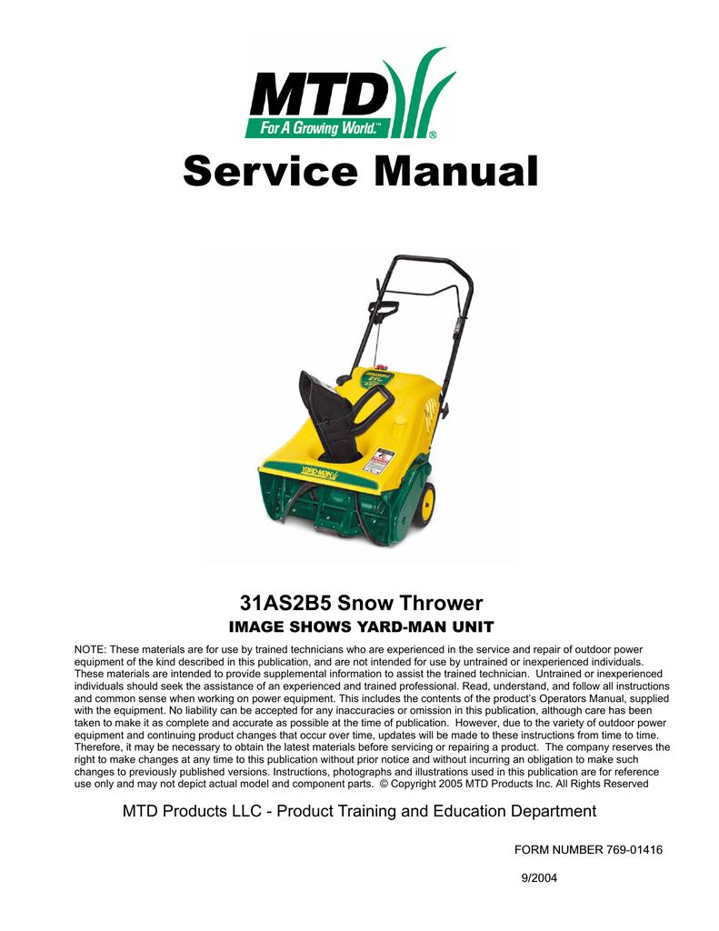 Mtd 31as2b5 User Manual Manualzz