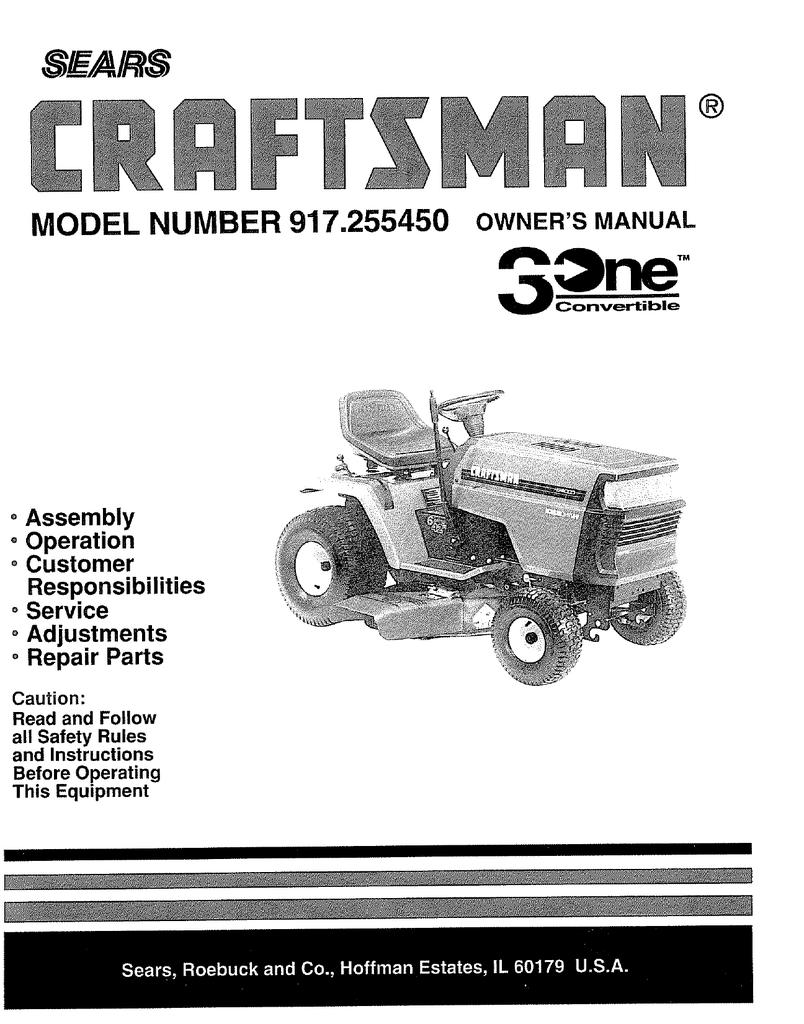 craftsman lt4000 917 255450 wiring diagram   42 wiring