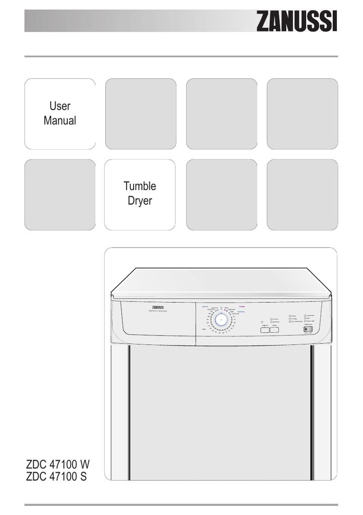 Zanussi ZDC 47100 W User manual   manualzz com