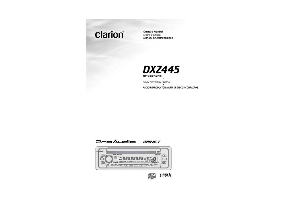 clarion dxz445 owner s manual manualzz com rh manualzz com