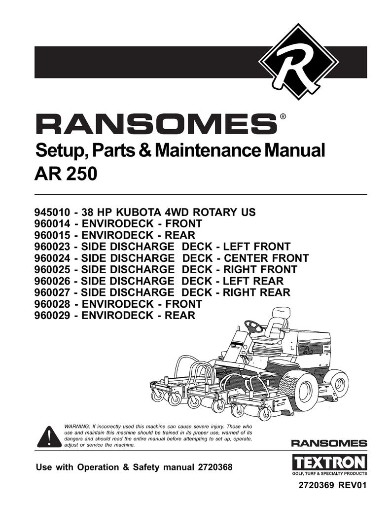 jacobsen hr 5111 manual