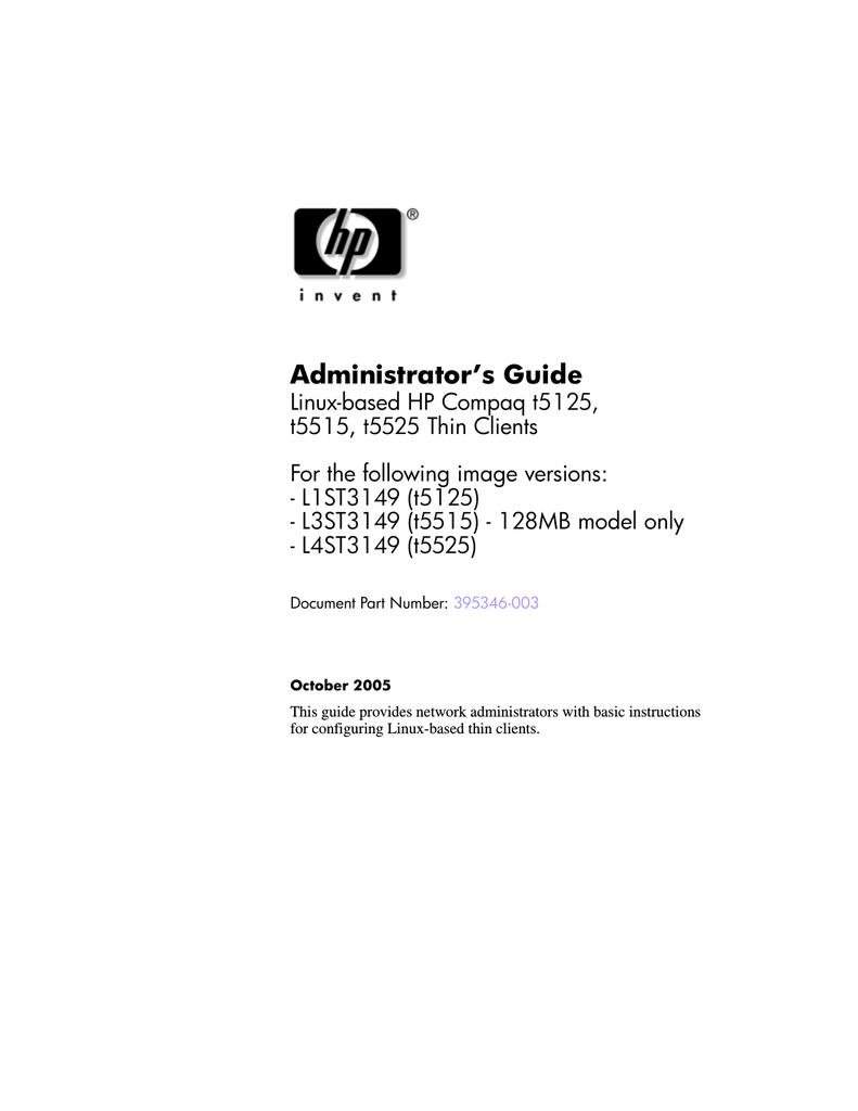 HP Compaq t5125 System information | manualzz com