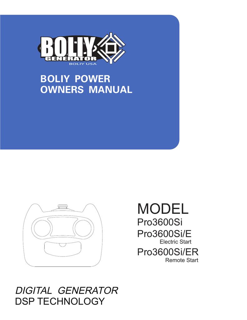 boliy pro3600si e specifications manualzz com rh manualzz com