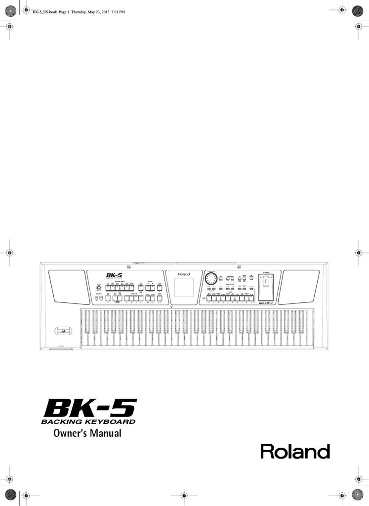 Roland BK-5 Owner`s manual | manualzz com