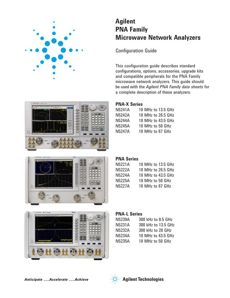 Pna L Block Diagram Wiring Library X Agilent Technologies P K281c Specifications Manualzzcom