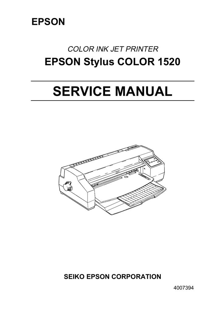 epson 590 service manual