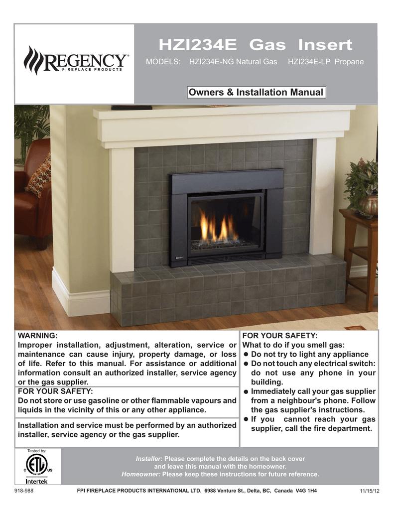 Regency Fireplace Products Hzi390e