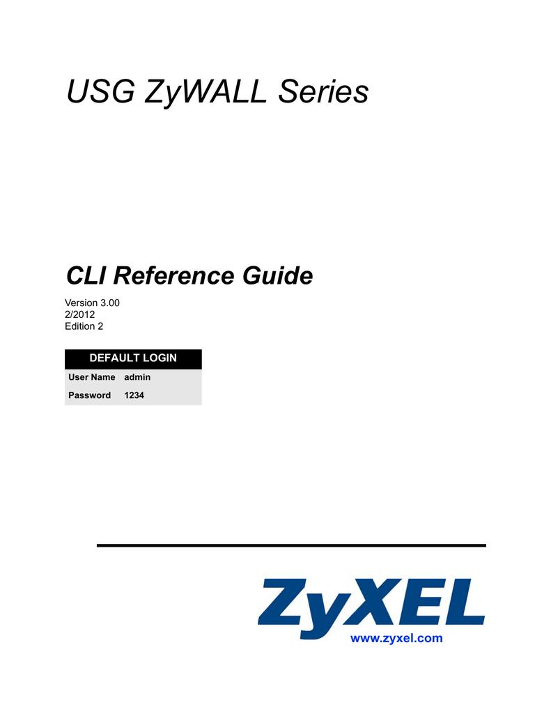 ZyXEL Communications USG-50 - V2 21 ED 1 User`s guide