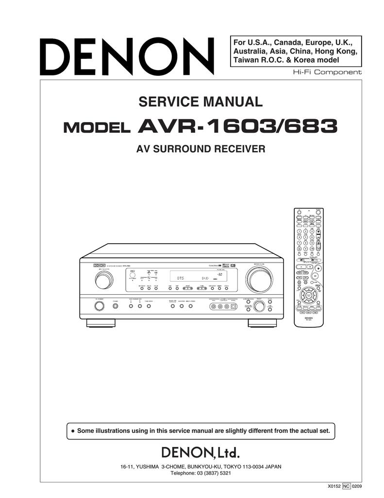 Denon AVR 1603 - AV Receiver Service manual | manualzz com