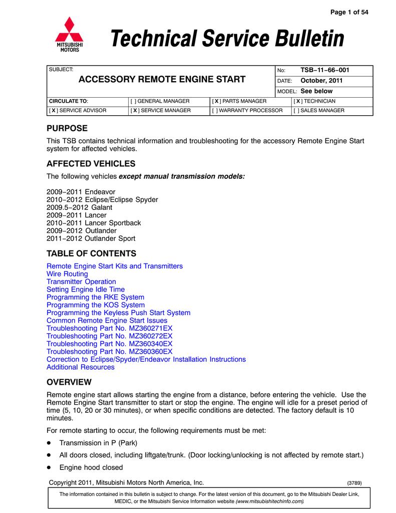 Mitsubishi Dealer Link >> Mitsubishi Mz360360ex Technical Information Manualzz Com