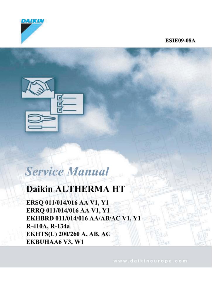 Daikin Altherma HT Service manual | manualzz com