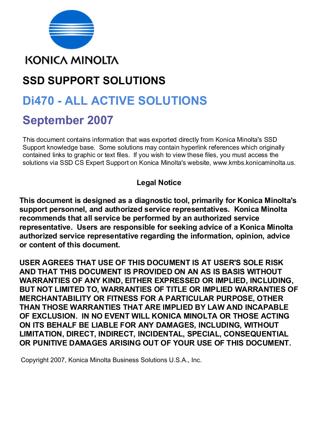 Minolta Pi4700e User Manual Manualzz