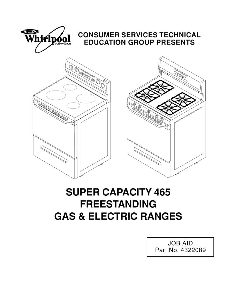 whirlpool sf385peg service manual manualzz com rh manualzz com Whirlpool Super Capacity 465 Control Board Whirlpool Range