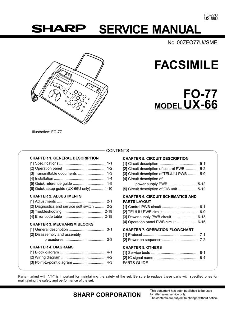 Sharp FO-70 Service manual   manualzz com