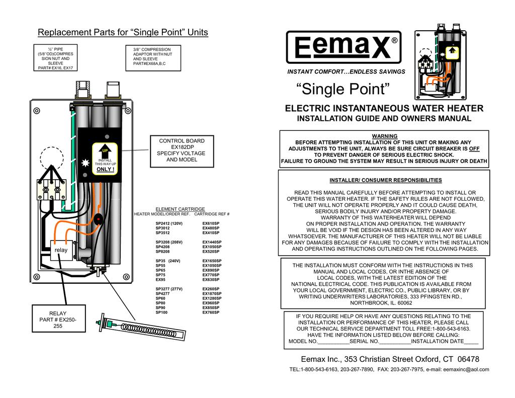 EemaX EX120 TC Installation guide | Manualzzmanualzz