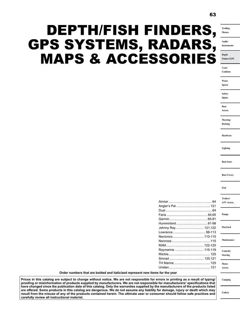 Eagle Seafinder 480df Additional Specifications Garmin 300c Fishfinder Wiring Diagram