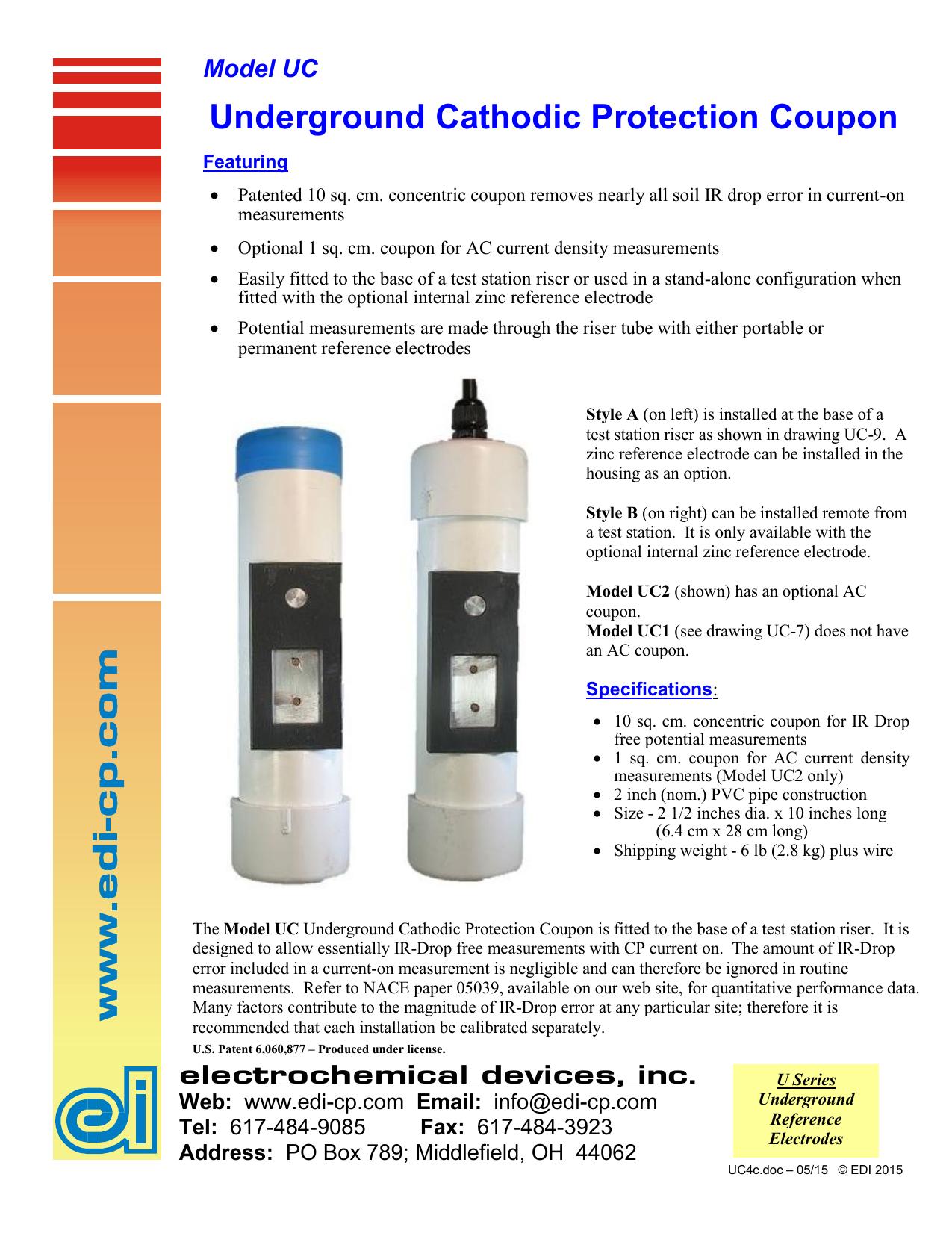 Model UC - Electrochemical Devices, Inc  | manualzz com