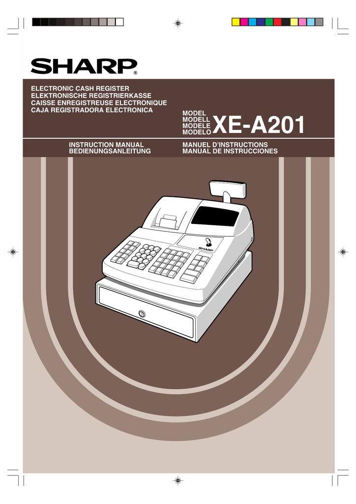 sharp xe a202 electronic cash register instruction manual rh manualzz com