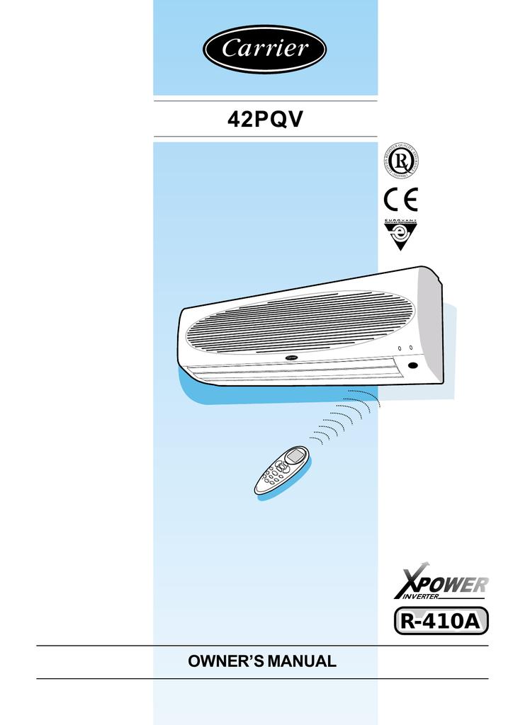 Carrier 42PQV Owner`s manual   manualzz com