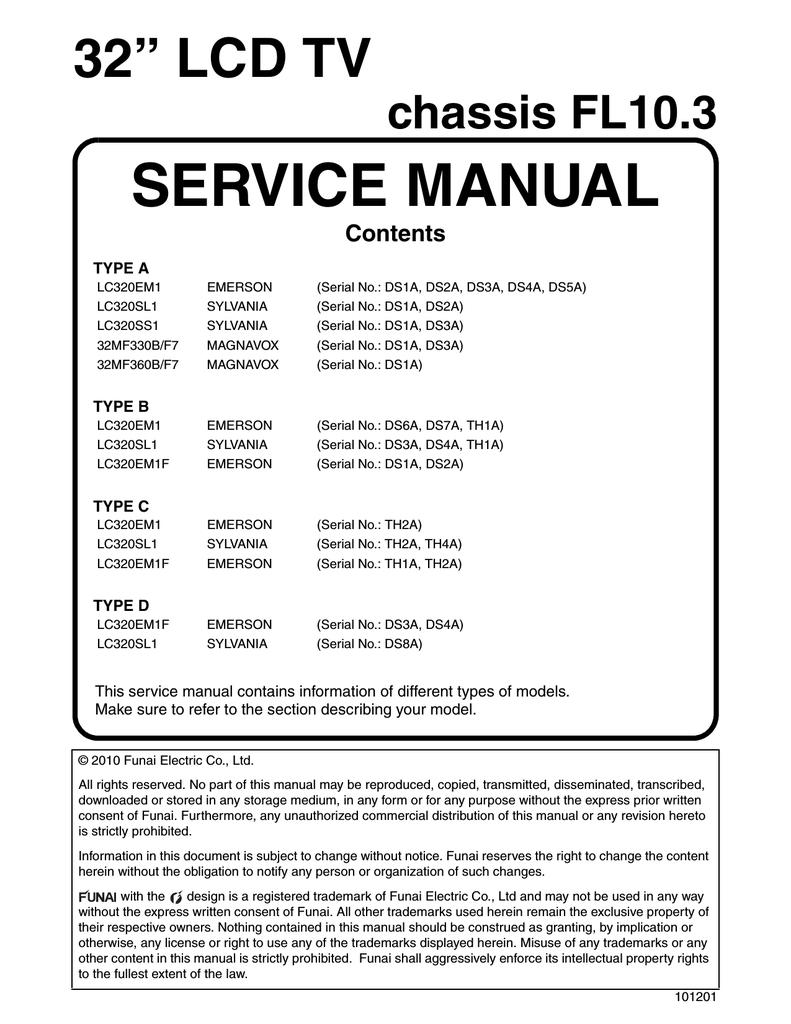 emerson lc 320em1 service manual manualzz com rh manualzz com Owner's Manual Owner's Manual