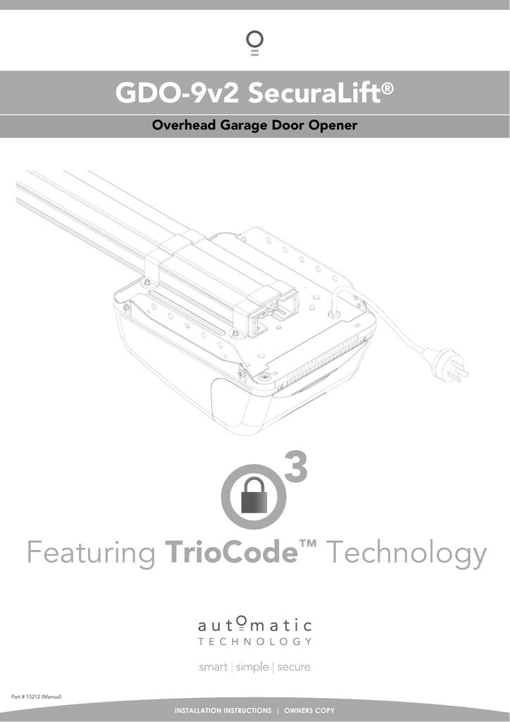 Gdo 9 Overhead Garage Door Opener Manual Garage Door Ideas