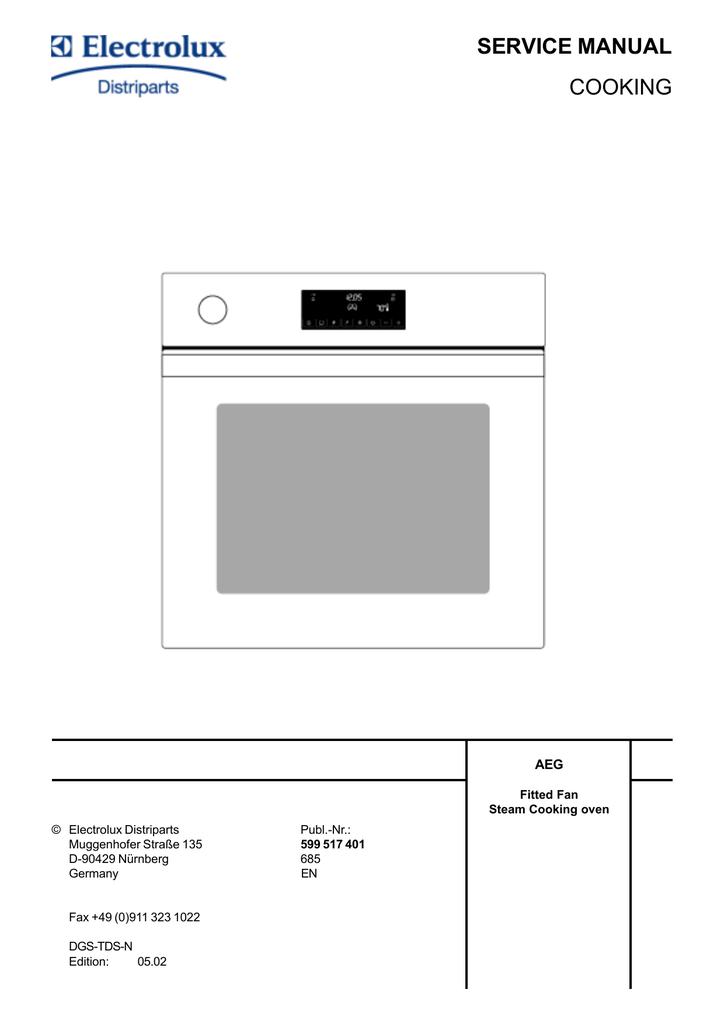 Aeg Competence B8920 1 User Manual Manualzz