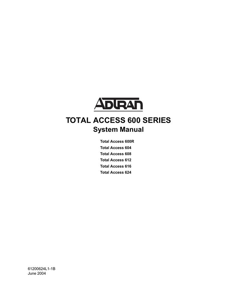 ADTRAN Total Access TA612 TDM Integrated Access Device 4200612L1#TDM