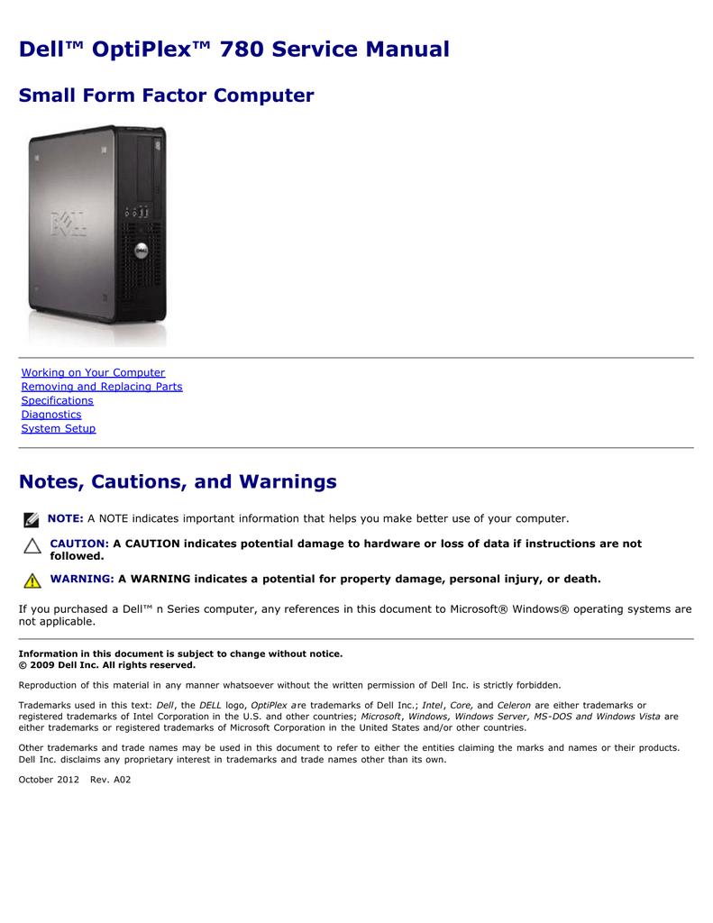 dell optiplex 780 sff service manual manualzz com dell 780 motherboard diagram diagram for dell optiplex 780 ports #43