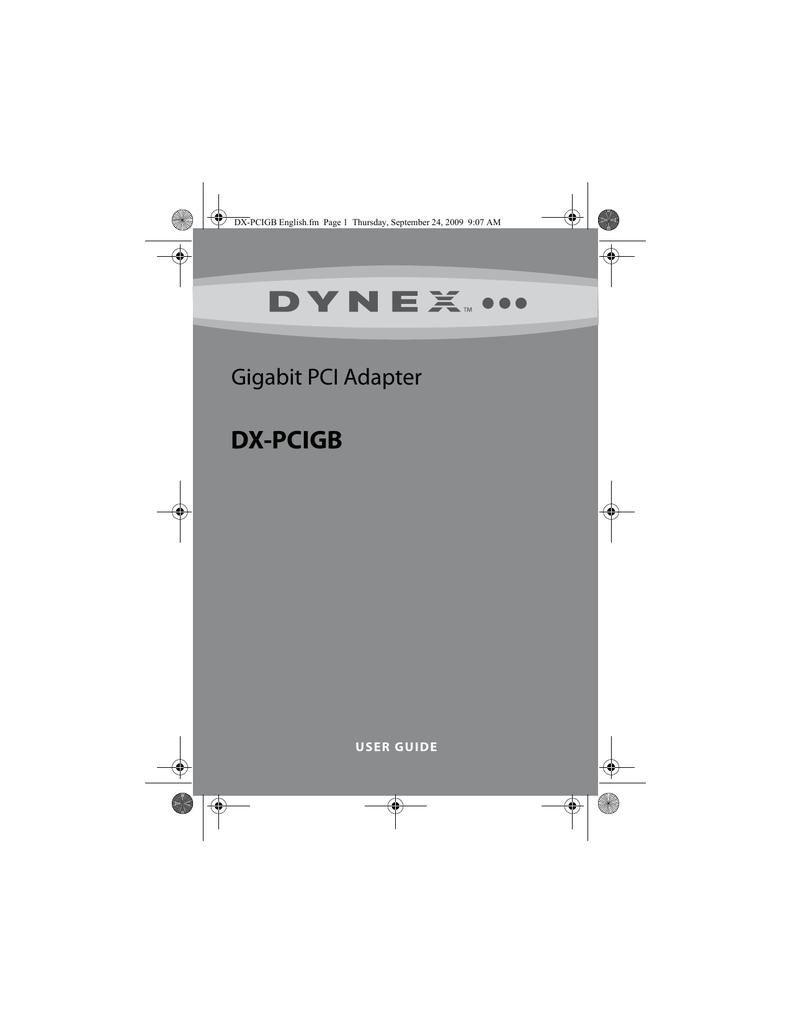 DYNEX GIGABIT PCI ADAPTER DX-PCIGB WINDOWS 8 X64 DRIVER DOWNLOAD