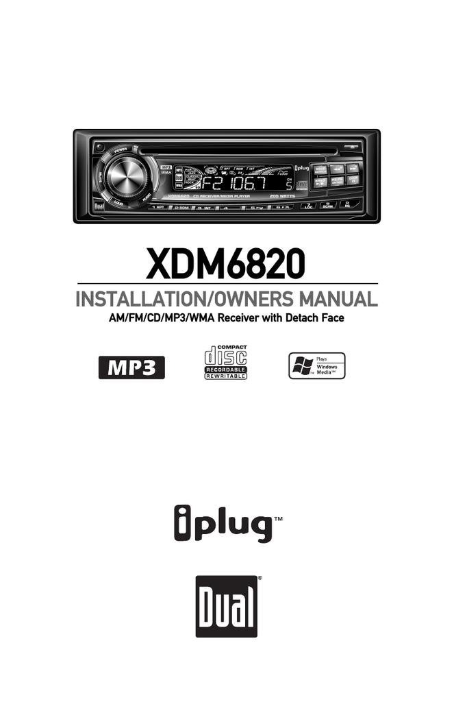 Dual XDM6820 User`s manual | manualzz.com on