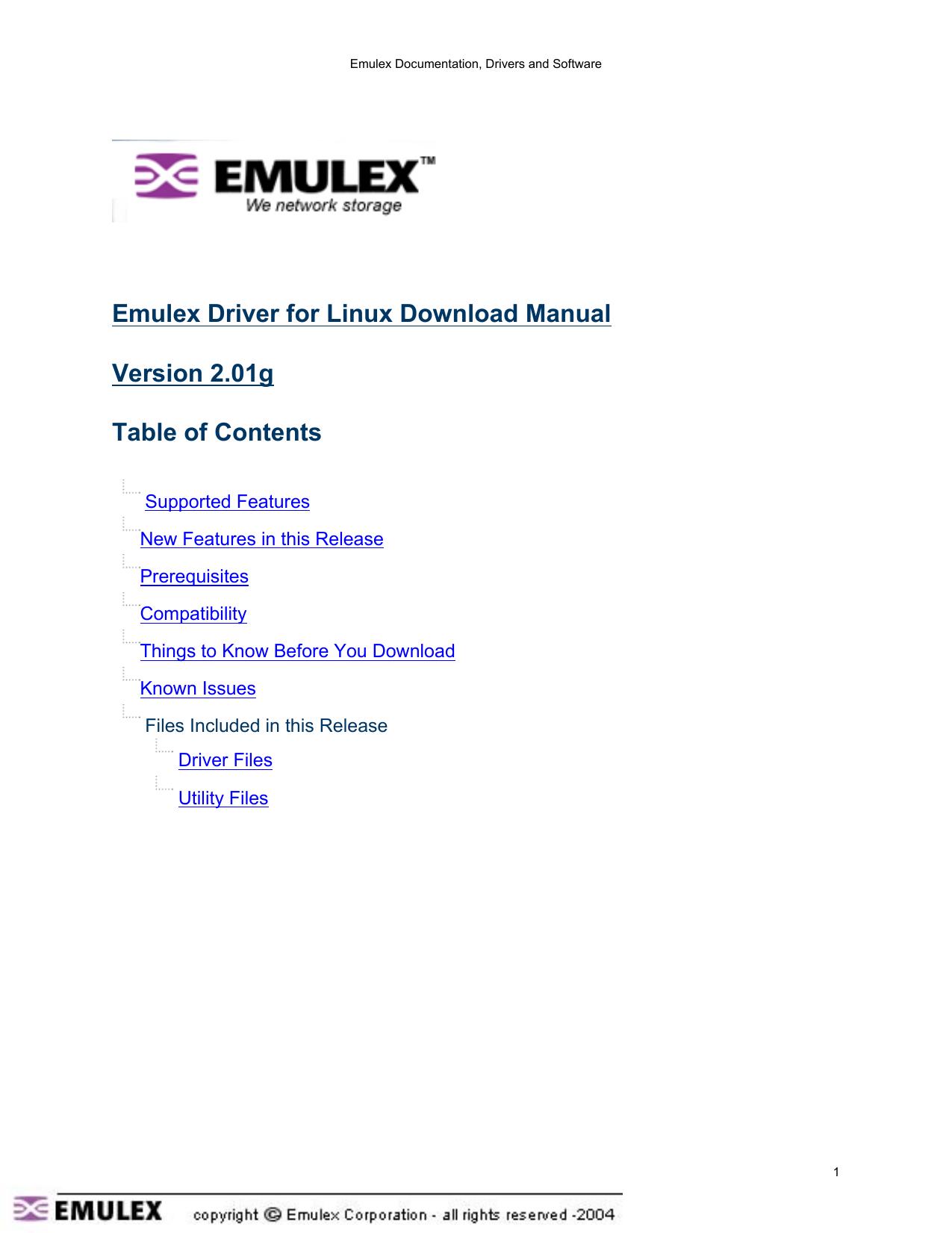 EMULEX STORPORT MINI DESCARGAR DRIVER