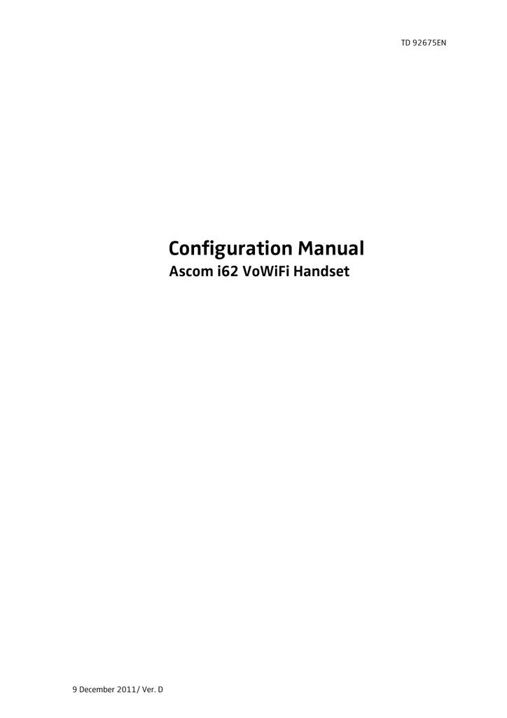 ASCOM I62 - User manual | manualzz com