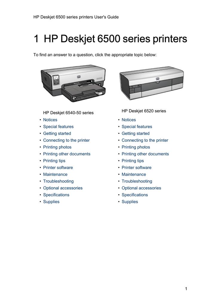 Hp 6500 Series User S Guide Manual Guide