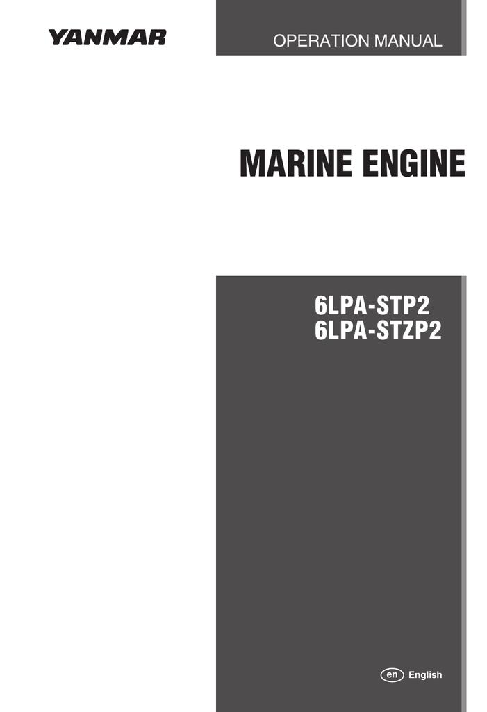 Yanmar 6LPA-STZP2 Specifications   manualzz com