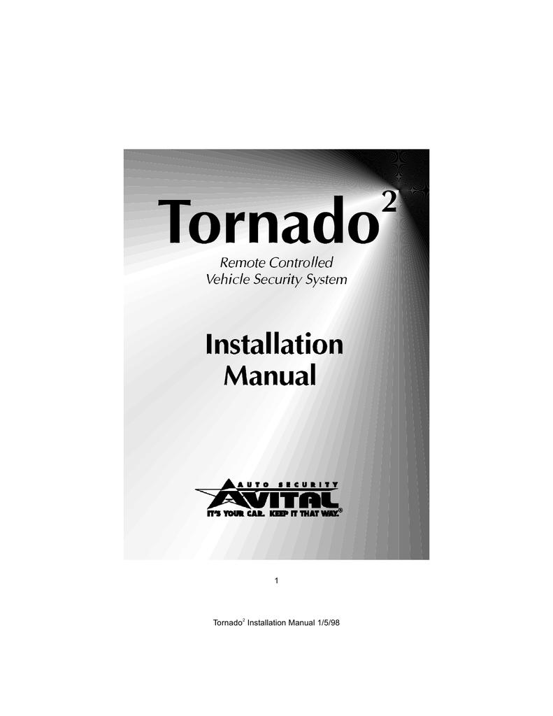 avital tornado 2 installation manual, Wiring diagram