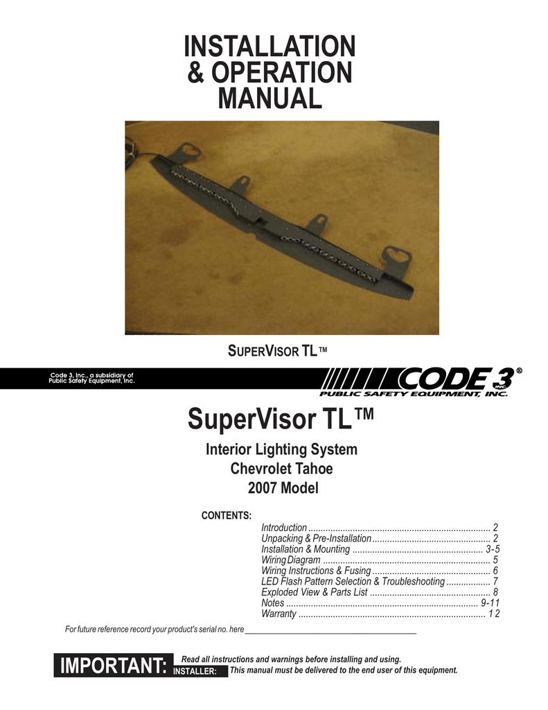code 3 supervisor troubleshooting guide manualzz com Code 3 MX7000 Wiring