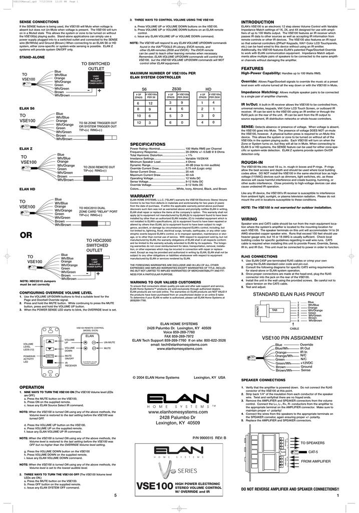 elan z-600 specifications | manualzz  manualzz