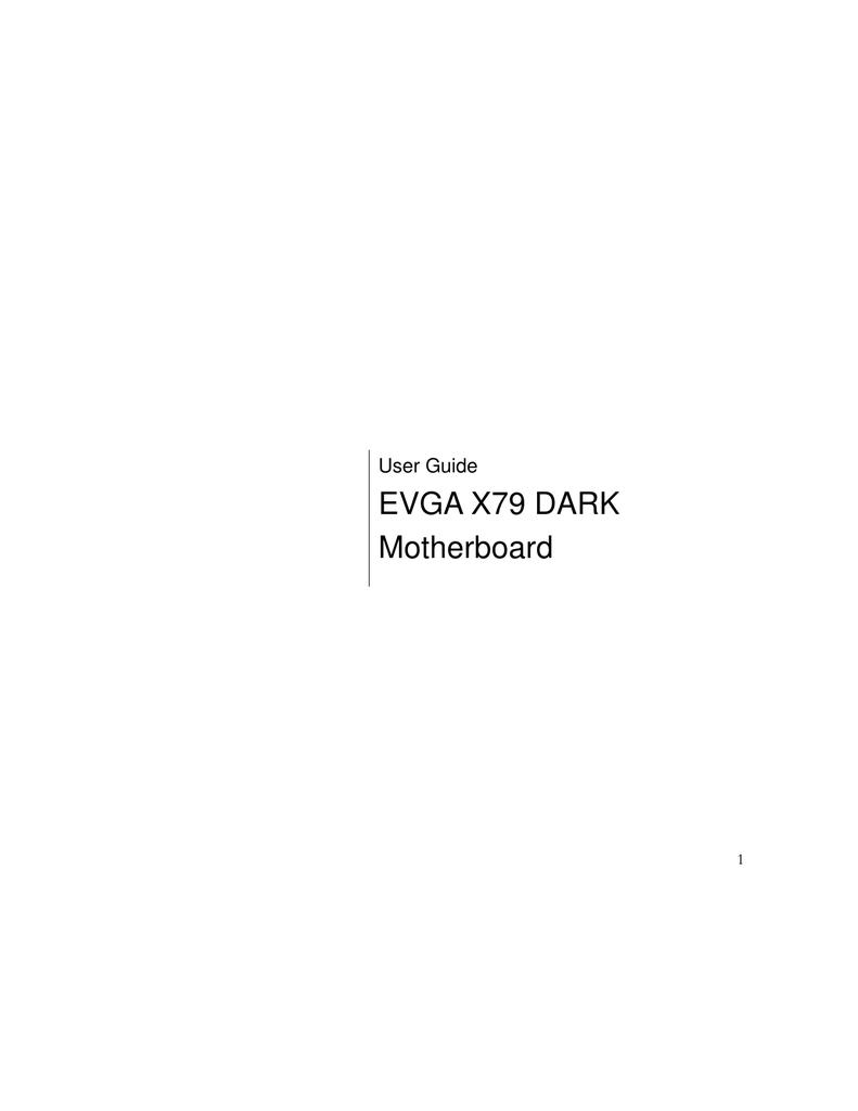 EVGA EVGA X79 DARK User guide | manualzz com