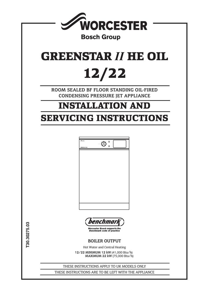 bosch greenstar ii he oil 12/22 datasheet  manualzz