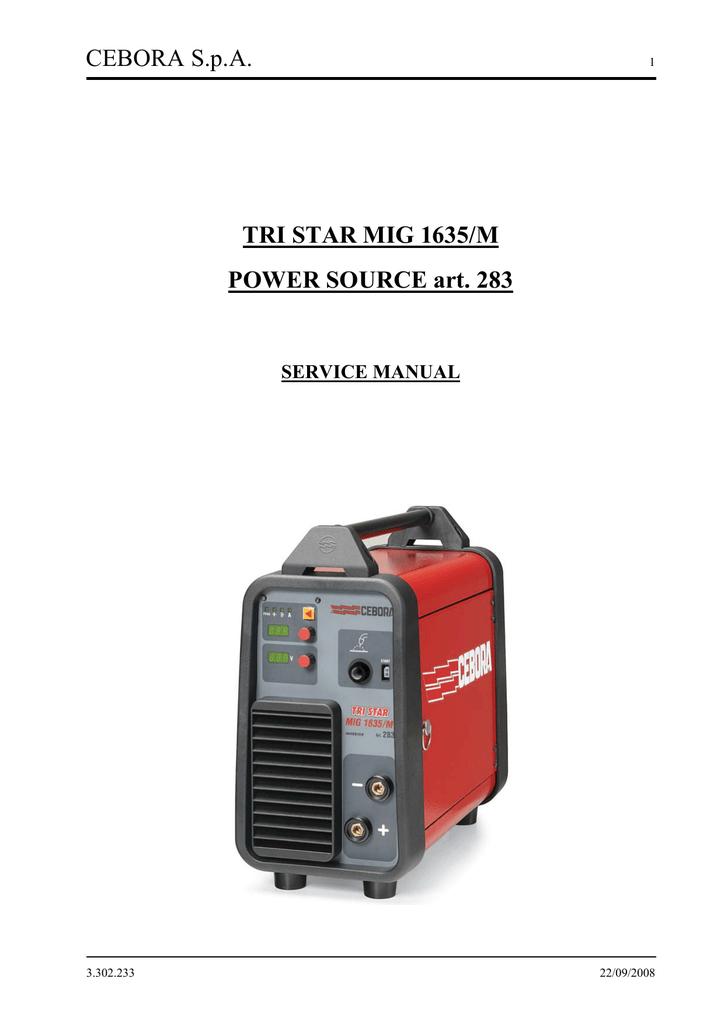 Cebora TRI STAR MIG 1635/M Service manual | manualzz com