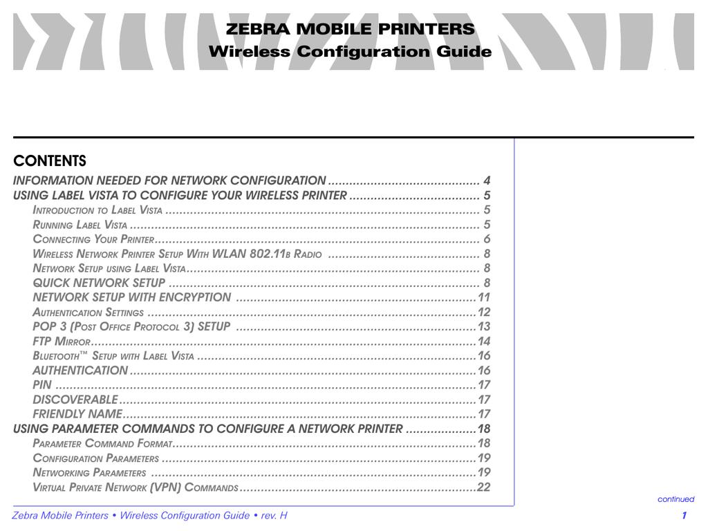 Zebra QL User`s guide | manualzz com
