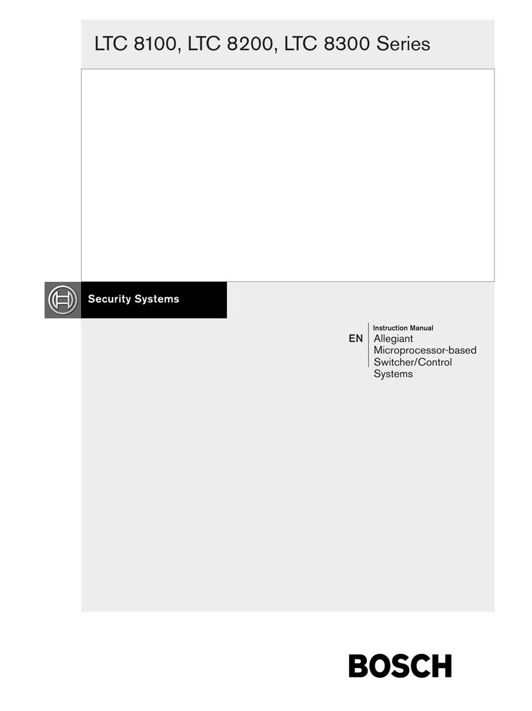 Bosch Ltc 8555 User Manual Manualzz